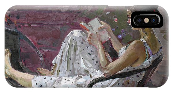 Reading iPhone Case - Girl Reading by Ylli Haruni