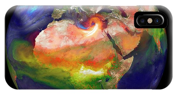 Fire Ball iPhone Case - Global Fires by William Putman/nasa Goddard Space Flight Center