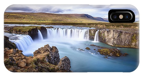 Godafoss Waterfall IPhone Case