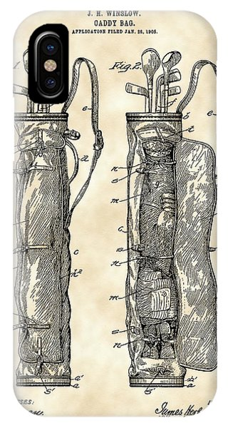 Golf Bag Patent 1905 - Vintage IPhone Case