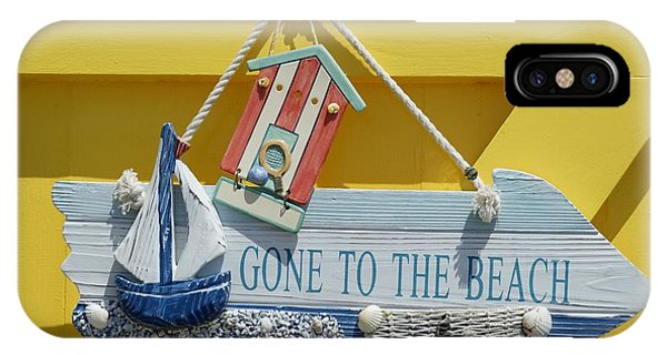 Gone To The Beach IPhone Case