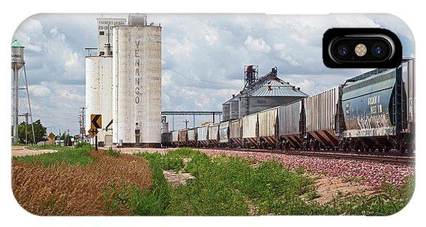 Grain Elevators And Railway Phone Case by Jim West