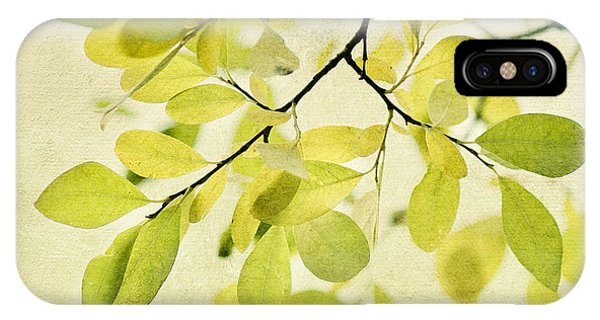 Square iPhone Case - Green Foliage Series by Priska Wettstein