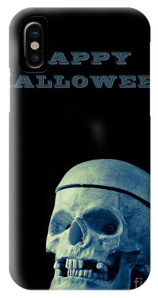 Skull iPhone Case - Happy Halloween Card 2 by Edward Fielding