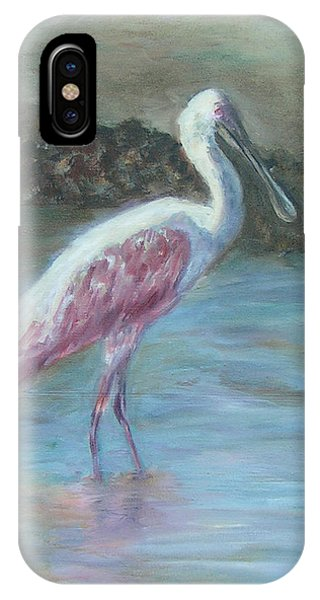 Happy Spoonbill IPhone Case