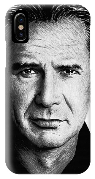 Coloured Pencil iPhone Case - Harrison Ford by Andrew Read