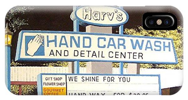 Harv's Car Wash Phone Case by Paul Guyer