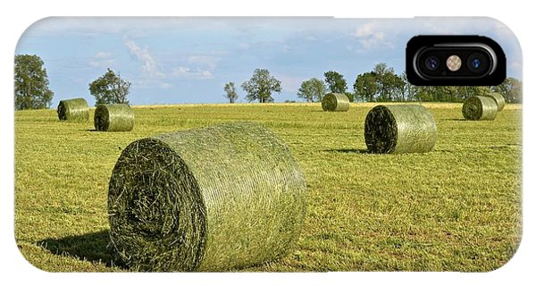 Hay Bales In Spring IPhone Case