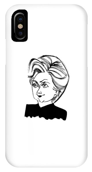 Endorsement iPhone Case - Hillary Clinton by Tom Bachtell