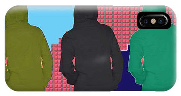 Hoodie Gang Graffiti Fashion Background Designs  And Color Tones N Color Shades Available For Downlo IPhone Case