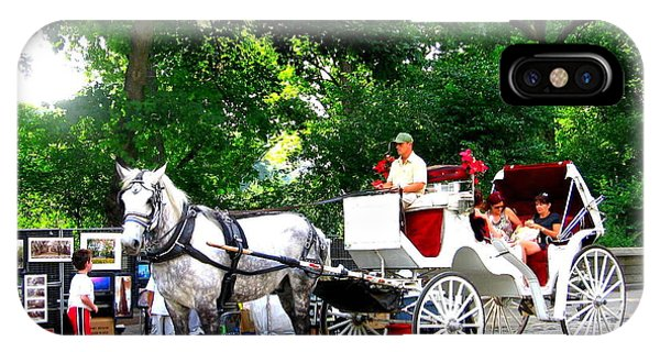 Horse And Carriage In Central Park IPhone Case