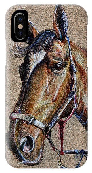 Horse Face - Drawing  IPhone Case