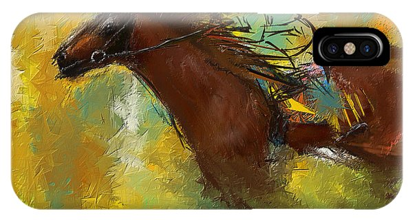 Horse Racing Abstract IPhone Case