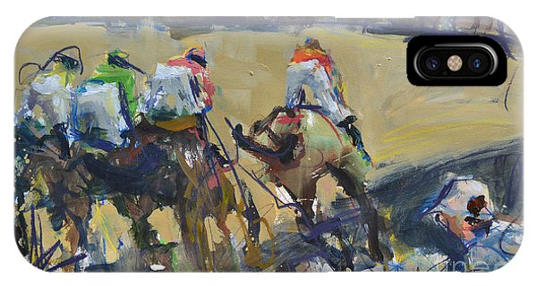 Horse Racing Painting IPhone Case