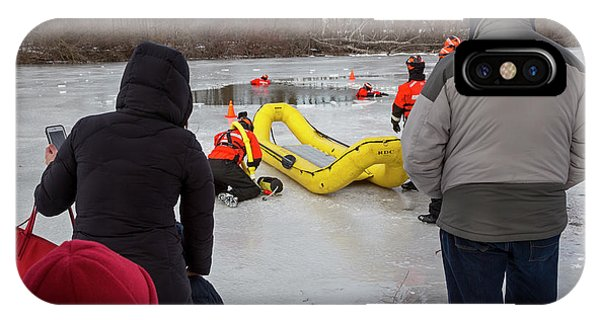 Ice Rescue Demonstration Phone Case by Jim West/science Photo Library