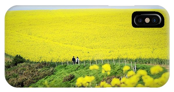 Rapeseed Field... Love Story IPhone Case