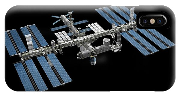 International Space Station iPhone Case - International Space Station by Carlos Clarivan
