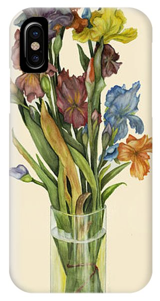 irises in Vase IPhone Case