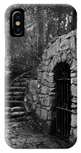 IPhone Case featuring the photograph Iron Door In A Garden by Kelly Hazel
