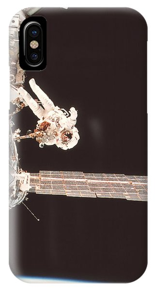 International Space Station iPhone Case - Iss Space Walk by Nasa/science Photo Library