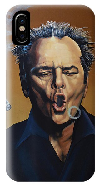 Jack Nicholson Painting IPhone Case