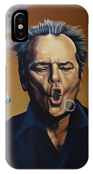 Men iPhone Case - Jack Nicholson Painting by Paul Meijering