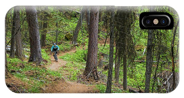 Jared Lynch Mountain Biking The North Phone Case by Chuck Haney