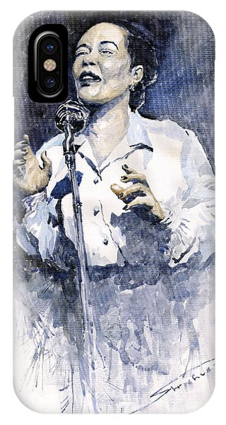 Portret iPhone Case - Jazz Billie Holiday Lady Sings The Blues  by Yuriy Shevchuk