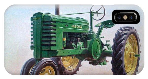 Rural Scenes iPhone Case - John Deere Tractor by Hans Droog