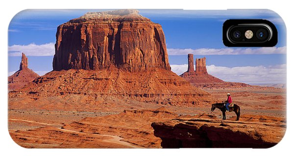 IPhone Case featuring the photograph John Ford Point Monument Valley by Brian Jannsen