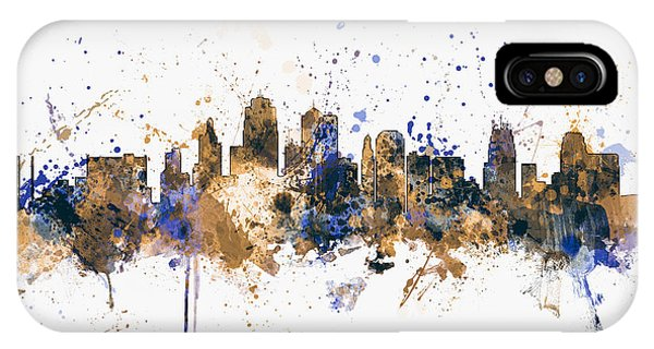 United States iPhone Case - Kansas City Skyline by Michael Tompsett