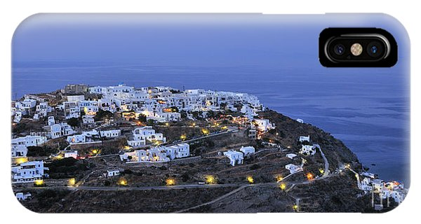 Kastro Village In Sifnos Island IPhone Case