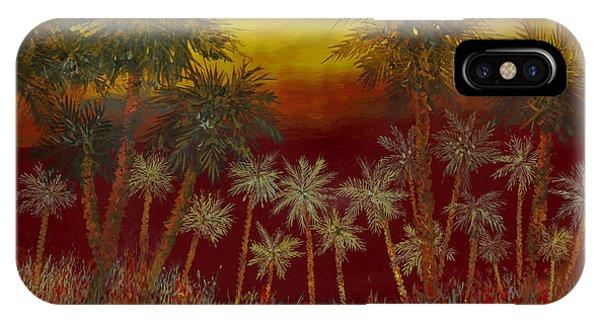 Jungle iPhone Case - La Jungla Rossa by Guido Borelli