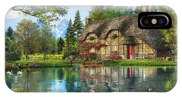 Lake View Cottage IPhone Case