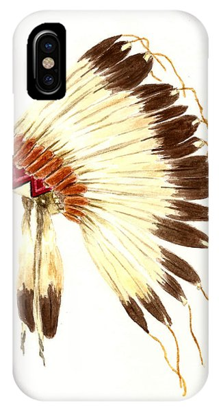Feathers iPhone Case - Lakota Headdress by Michael Vigliotti