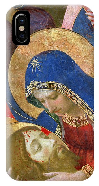 Mary Mother Of God iPhone Case - Lamentation Over The Dead Christ by Fra Angelico