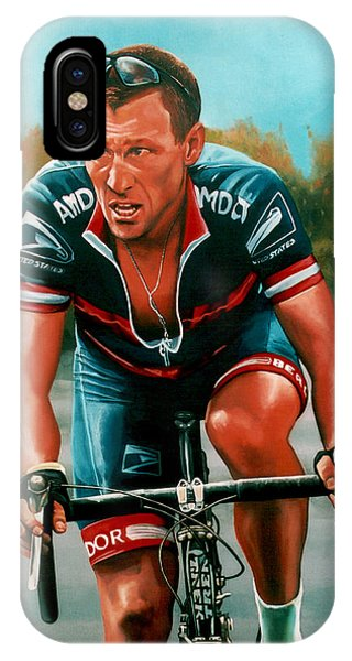Cycling iPhone Case - Lance Armstrong by Paul Meijering