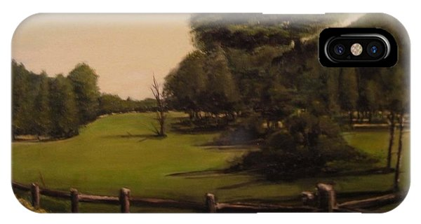 Landscape Of Duxbury Golf Course - Image Of Original Oil Painting IPhone Case