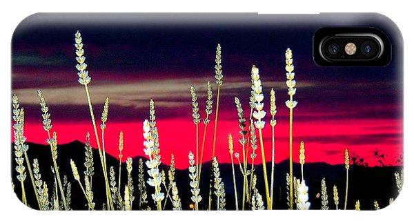 Lavender Sunset Phone Case by Mavis Reid Nugent