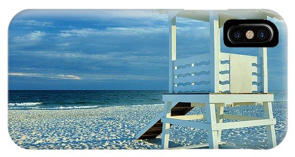 Lifeguard Hut On Beach IPhone Case