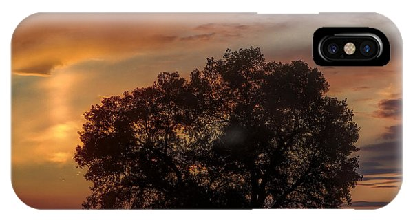 Light Pillar And Cottonwood IPhone Case