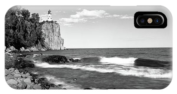 Lake Superior iPhone Case - Lighthouse On A Cliff, Split Rock by Panoramic Images