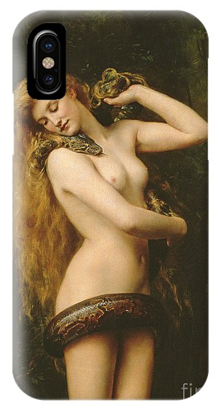 Burmese Python iPhone Case - Lilith by John Collier