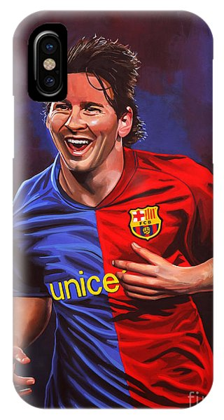 Argentina iPhone X Case - Lionel Messi  by Paul Meijering