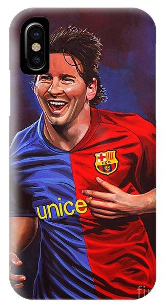 Barcelona iPhone Case - Lionel Messi  by Paul Meijering