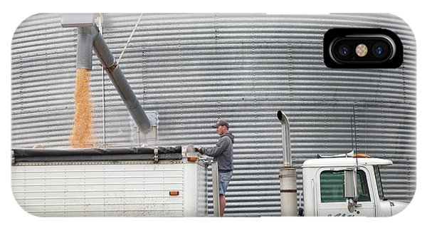 Silo iPhone Case - Loading Grain From A Silo by Jim West
