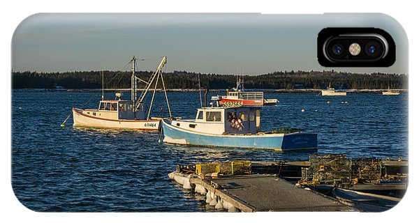 Lobster Boats Maine  IPhone Case