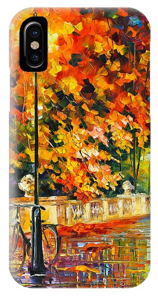 iPhone Case - Lonely Bicycle  by Leonid Afremov