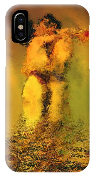 Illusion iPhone Case - Lovers by Kurt Van Wagner