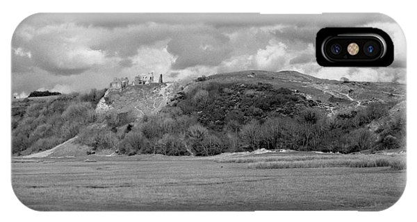 Lowering Clouds Over Pennard Castle IPhone Case